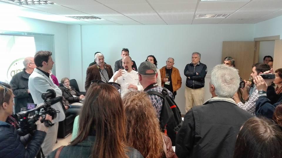 Visita a la planta de cultivo de GMA con motivo del Congreso Periodispesca 2016.